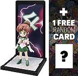 Sailor Jupiter: 8.9cm Sailor Moon x Tamashii Buddies Figure Series + 1 FREE Official Sailor Moon Trading Card Bundle