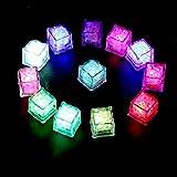 アイスライト 12個セット LEDセンサーライト 飾るライト 感知型 マルチカラー パーティー/シャンペンタワー/結婚式/忘年会/バーの装飾用 2.7×2.7×2.6cm 良品優選