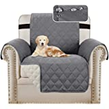 Waterproof Sofa 1 Seater Cover Chair Protectors Cover for Living Room Non Slip Furniture Cover for Dogs/Pets, Checked Pattern