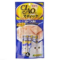 箱売り いなば CIAO(チャオ) スティック かつお 15g×4本 キャットフード CIAO チャオ 48袋入