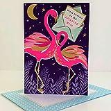 Rachel Ellen REPIC18 Piccolo Flamingos Happy Birthday To My Amazing Wife Card