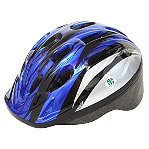 PALMY(パルミー) キッズヘルメット SG P-MV12 シルバー/ブルー M (頭囲 52cm~56cm)