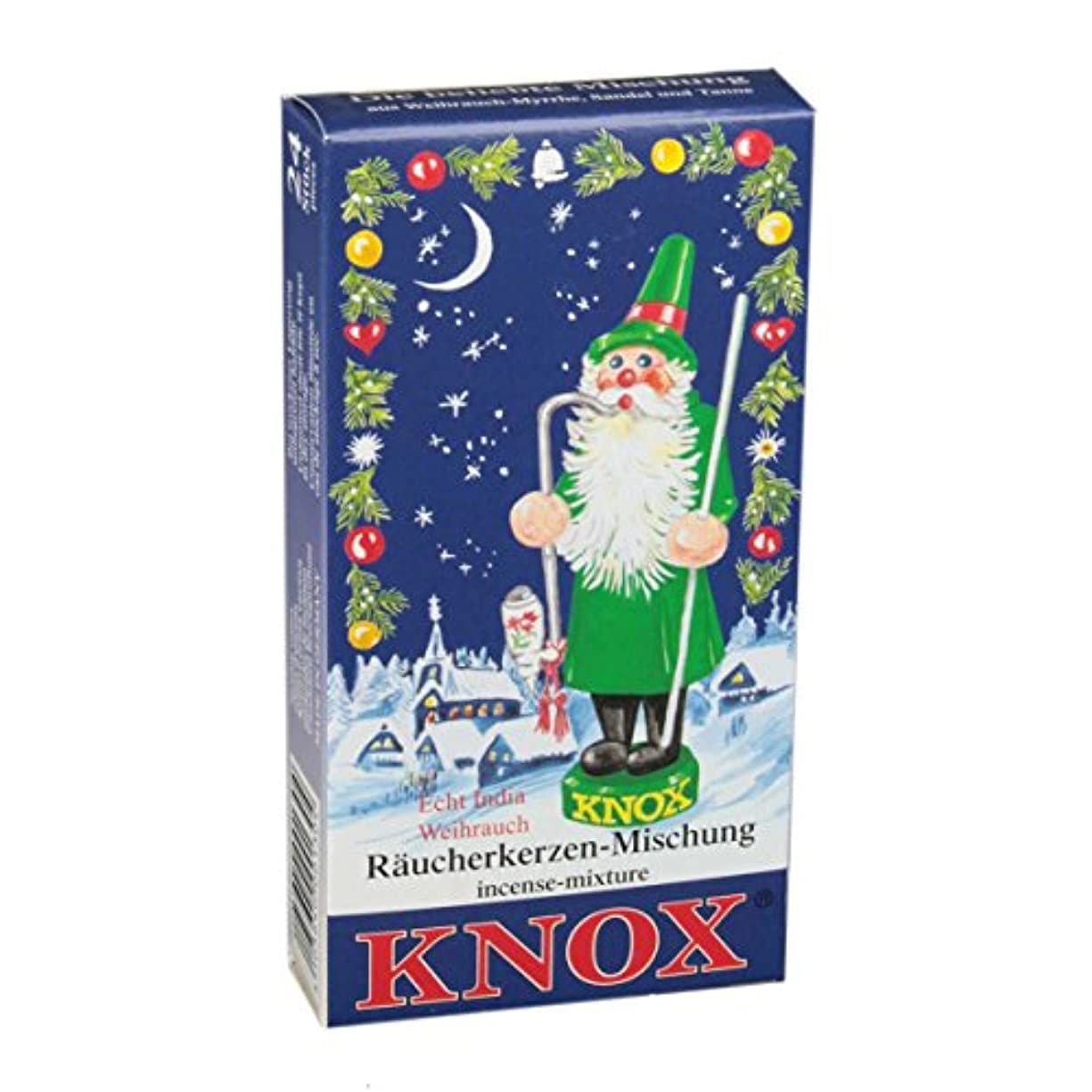 ダメージどっちでも証言Knoxのさまざまな休日香りつきIncense Cones、24パック、ドイツ製