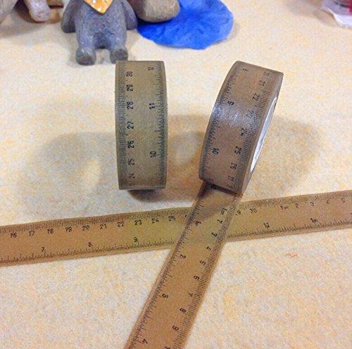 楽しいクリスマスギフトラッピング用紙テープ5または10メートル(2ロールのパック) Measuring Tape (10M)