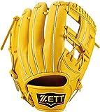 ZETT(ゼット) 軟式野球 プロステイタス グラブ (グローブ) 新軟式ボール対応 セカンド・ショート用 トゥルーイエロー(5400) 右投げ用 BRGB30920