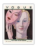 ヴォーグマガジンカバー - 1930年11月24日 - によって作成された ジョルジュ・ルパプ c.1930 - アートポスター - 28cm x 36cm