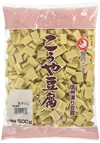 登喜和冷凍食品 鶴羽二重高野豆腐1/16玉子とじカット 500g