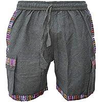 Gheri Mens Cotton Contrast Border Hippie Shorts Half Pants