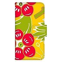 ホワイトナッツ HTC Desire EYE 4G M910X ケース 手帳型 プリント手帳 パターンA(wn-505) カード収納 スタンド機能 和柄 WN-PR183749-L