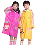 (C-blossom)レインコート かわいい 子供用 キッズ 防水 ランドセル・リュック対応 男の子 女の子 全3色 (M, オレンジ)