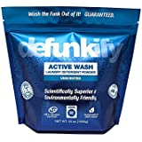 Defunkify Active WASH Laundry Detergent - Soap for Activewear, High Tech, Synthetic Clothing, and All Your Other Laundry. Removes Odours and Stains from Sportswear. 1630ml (92 Loads), 0.24 per Load