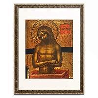 Jacobello di Bonomo 「Christ at the Tomb with a Dominician Monk.」 額装アート作品