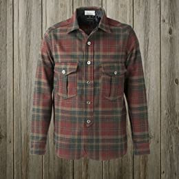 40s W-Pocket Work Shirt SN-12FW-54: Red