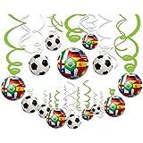 2018年 サッカーワールドカップロシア大会吊り下げペンダント―サッカーパーティー用品、誕生日テーマパーティー装飾品、一袋に30種類の配色、カラー