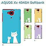 AQUOS Xx 404SH (ねこ06) C [C021203_03] 猫 にゃんこ ネコ ねこ柄 親子 アクオス スマホ ケース softbank