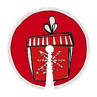 クリスマスプレゼントタッセルクリスマスツリースカートクラシックホリデーデコレーションクリスマスツリースカート、パーティーホリデーデコレーション用クリスマスオーナメント91cm