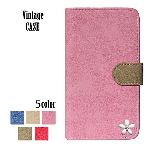 ロゼ(Rosee) apple iPhone7 ケース iPhone7 カバー アイフォン7 ケース iPhone7 手帳型ケース iphone 7 スマホケース iphone 7 手帳型カバー SIMフリー スマホケース 全機種対応 白い 花 はな キラキラ 可愛い 国内生産 Pink