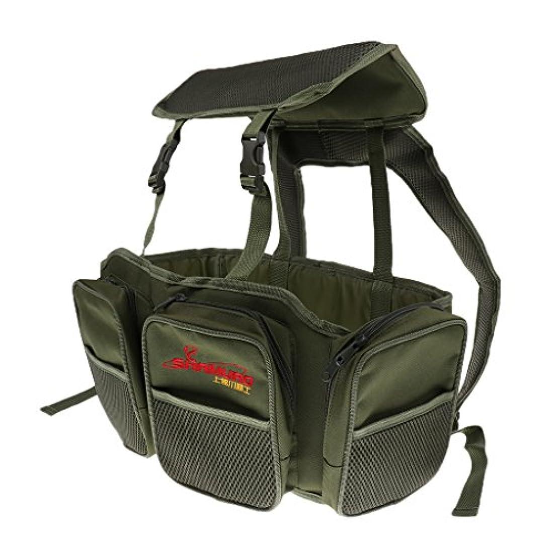 フォーク骨の折れる神経DYNWAVE タックルバッグ シートボックス リュックサック 大容量 調節可能 アーミーグリーン