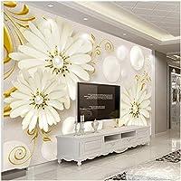 Mingld カスタム写真壁紙壁画3Dステレオレリーフフラワージュエリーモダンシンプルなリビングルーム不織布壁紙用壁3 D150X120Cm