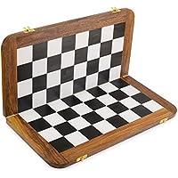 Rusticity木製チェスボード – プラスチックTop |ハンドメイド| ( 18 x 18 in )