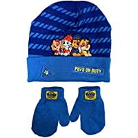 Nickelodeon Boys' Toddler Paw Patrol Hat and Mittens Cold Weather Set, Age 2-4