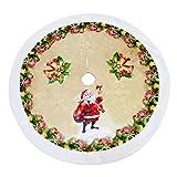 クリスマスツリーの底に聖ルモア クリスマスツリースカート 98cm フランネルレット エルダリー ツリースカート ホワイト 13