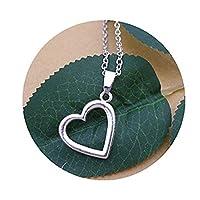タイニーハートネックレス ラブネックレス、繊細な遊び心ある大人の、 シンプルなネックレス、宝石、友人のためのネックレス