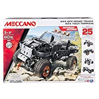 MECCANO by Erector, 4x4 Off-Road Truck 25 Model Building Set, 443Piece, Stem Engineering Education Toy for Ages 9 & Up [並行輸入品]