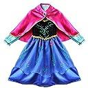 (イーエフイー)EFE コスプレ ハロウィン衣装 子供ドレス アナと雪の女王 コスチューム衣装 仮装 子供ワンピース 変装 マント付き マルチカラー 110