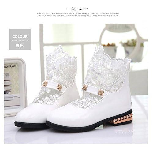 (チェリーレッド) CherryRed 子供靴 キッズ 女の子用 フォーマル靴 可愛い ブーツ レース 発表会 結婚式 卒園式 卒業式 入学式 七五三 36 ホワイト