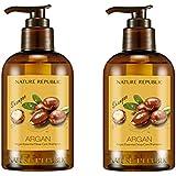 ネイチャーリパブリック(NATURE REPUBLIC) アルガン エッセンシャル ディープ ケア シャンプー x 2本 (Argan Essential Deep Care Shampoo x2pcs Set) [並行輸入品]