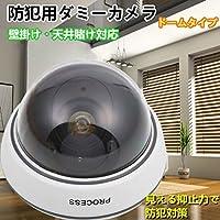 ダミーIR防犯カメラ/監視カメラ ダミーカメラ ドーム型 LED点滅センサーライトと併用で更に効果アップ 並行輸入品