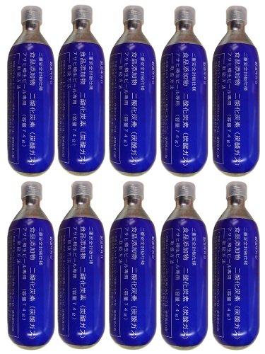 アサヒ 炭酸ガスカートリッジ 74g × 10本 [ 宮田工業 ] 二酸化炭素 CO2