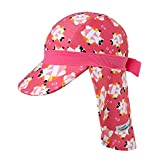 Vaenait Babyベビー 子供水着日焼け予防UVカットフラップキャップ帽子 UV Flapcap Tanning Bear Pink L