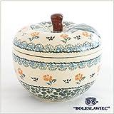 [Zaklady Ceramiczne Boleslawiec/ザクワディ ボレスワヴィエツ陶器]リンゴのポット12.5cm-887 ポーリッシュポタリー
