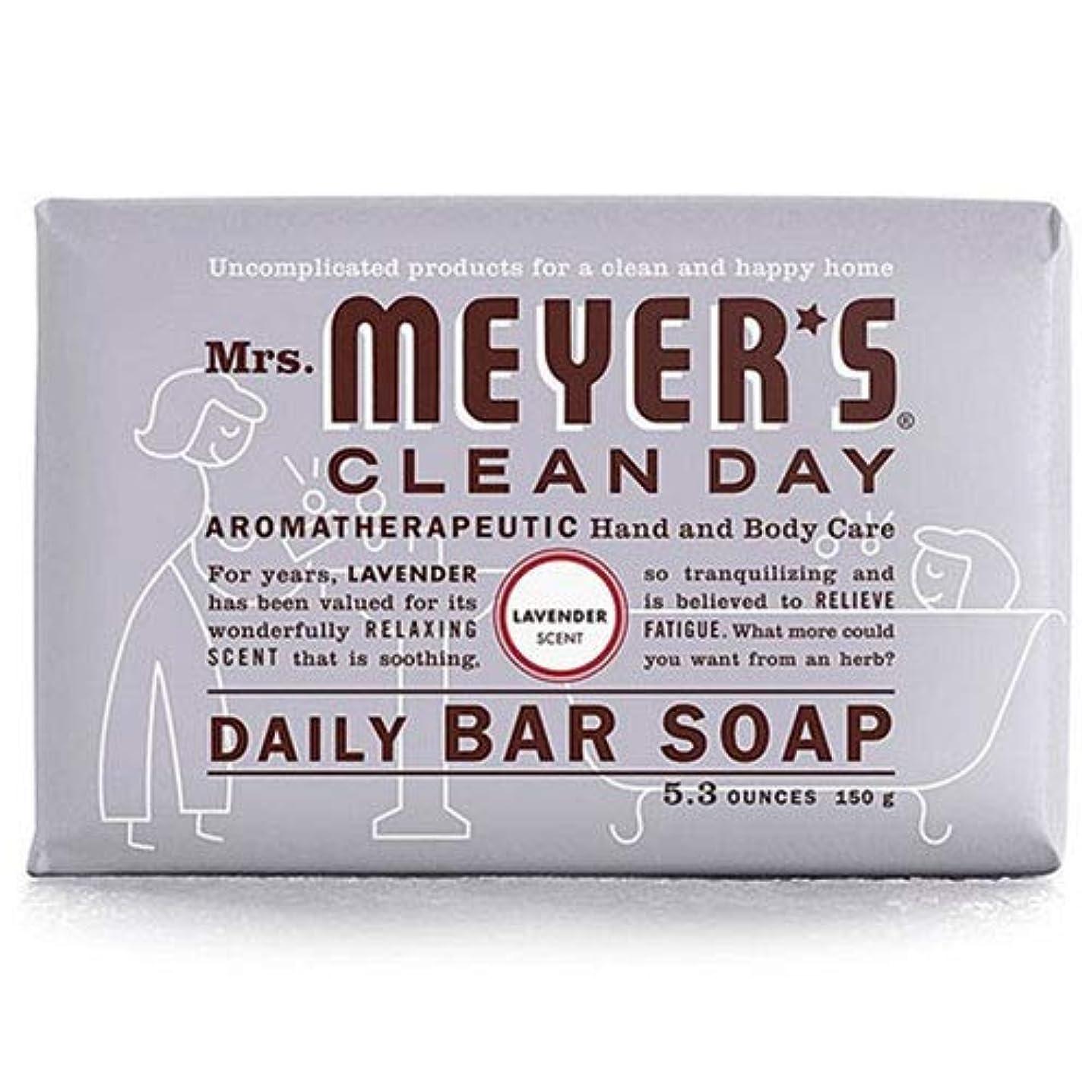 純正惨めなアフリカ人Mrs. Meyers 夫人マイヤーズ石鹸ラベンダー5.3オンス(156Ml)(3パック)