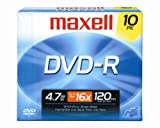 Maxell 638004 DVD-R 4.7gb Write-Once 16x Recordabl [オンデマンド(CD-R)]