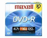 Maxell 638004 DVD-R 4.7gb Write-Once 16x Recordabl [オンデマンド(CD-R)]