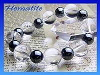 パワーストーン Simple_Combiブレスレット ヘマタイト&水晶デザインブレスレット|数珠|ブレスレット|天然石|パワーストーン| 10P20Sep...