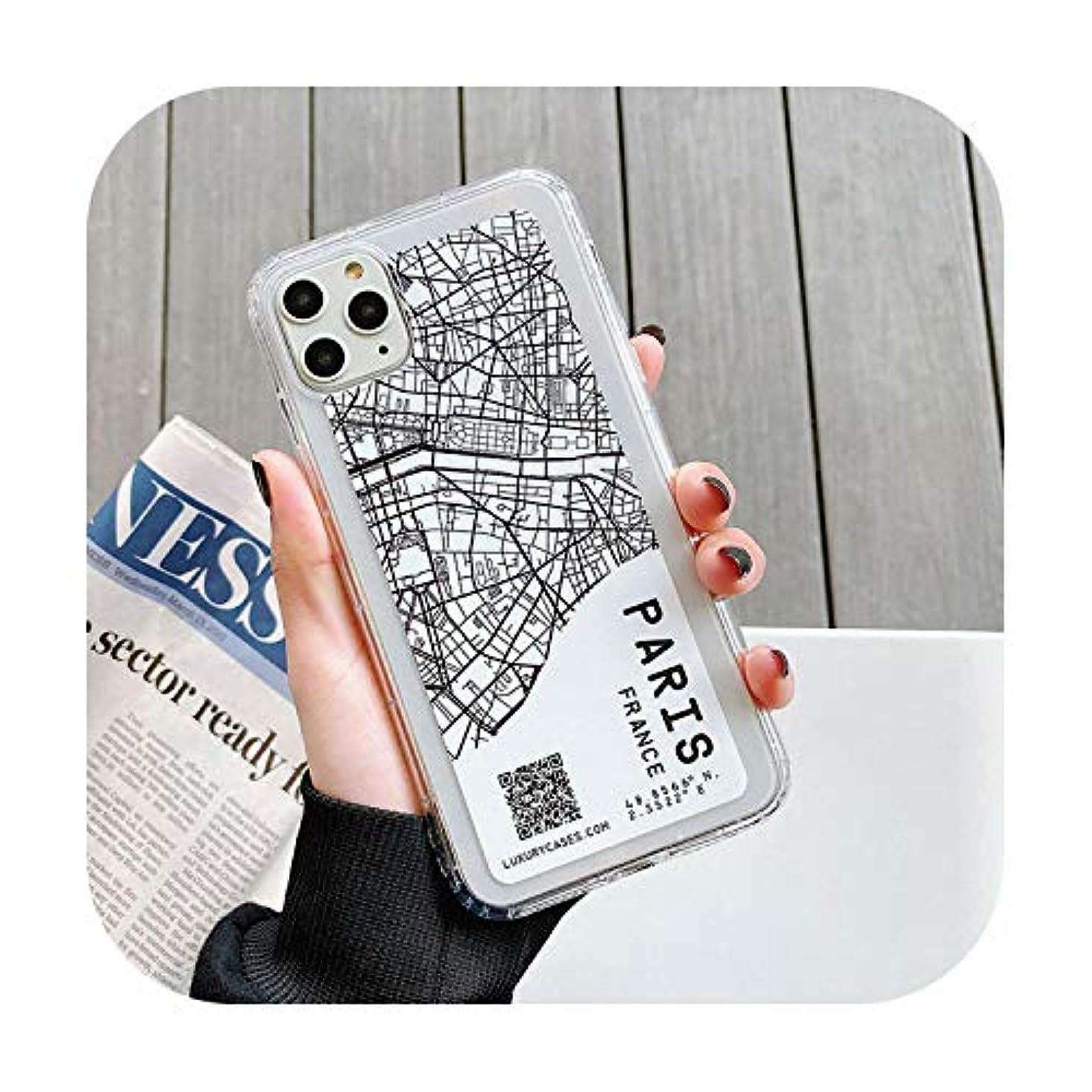 湿った退院障害者都市地図電話ケースをスケッチfor Apple for iphone 11 Pro X XS Max Xr 8 7 6 6s Plus用クリアソフトバックカバー-PARIS-for for iphone 6S Plus