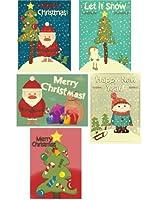 40パックさまざまなクリスマスカード42エンベロープ含ま 7x5