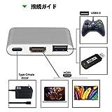 Type-C 変換 アダプター GOOJODOQ ニンテンドースイッチ ドック 超軽量 薄型 多機能Hub 高速USB3.0 Type C Hub Macbook対応コンバーター (グレー)