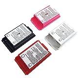 AFUNTA 4個のバッテリーカバーXbox 360ワイヤレスコントローラのシェルケース - 4色(黒、白、赤、ピンク)