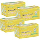 ナチュラムーン(NaturaMoon) 生理用ナプキン 多い日の昼用 (羽なし) 18個入×4パックセット 高分子吸収剤不使用 ノンポリマー 使い捨て布ナプキン