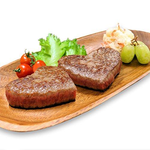 米沢牛 かわいい ハート型 赤身 特撰 モモ ステーキ110g×4 肉贈