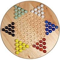 [ウィゲーム]WE Games Solid Wood 11.5 Chinese Checkers Set with Glass Marbles 493011 [並行輸入品]
