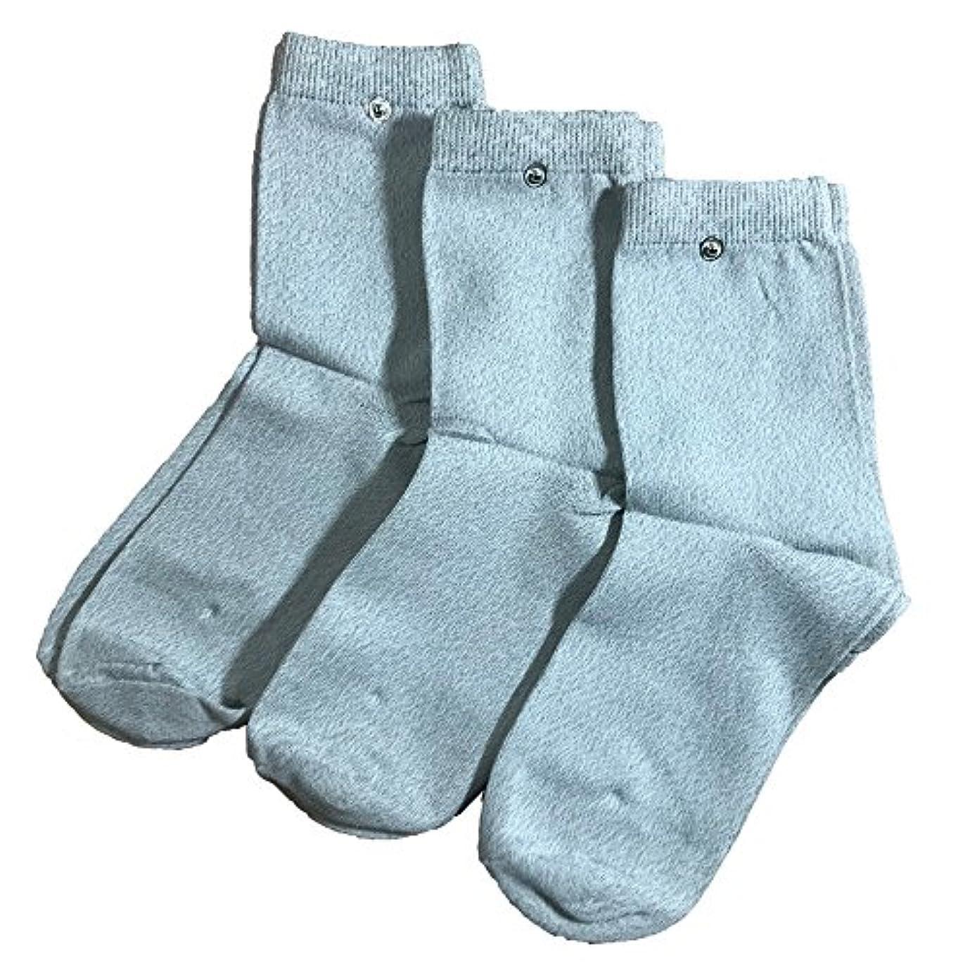 riraku-life(??????) 大地と繋がるアーシング健康法用 アーシングソックス(high) お徳用3足セット 導電性靴下 (3) (M)