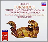 Puccini - Turandot / Sutherland ツキ Pavarotti ツキ Caballテゥ ツキ Ghiaurov ツキ Krause ツキ Pears ツキ LPO ツキ Mehta (1990-10-25)