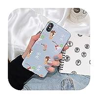 漫画マットアイスクリーム電話ケースiphone 8 XSmaxXR X 7 6 6 splusソフトシルクパターンバックカバー-ケースセット1-iPhone 6 6sの場合