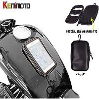 KEMIMOTOバイク用 タンクバッグ スマホバッグ iPhone/iPhone plus用 ヤマハ・ハーレー・ホンダ・スズキ・カワサキ 汎用